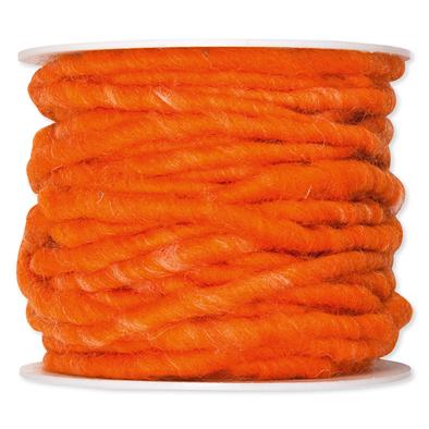 Wolkoord oranje op rol 10 meter per rol