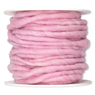 Wolkoord licht roze op rol 10 meter per rol