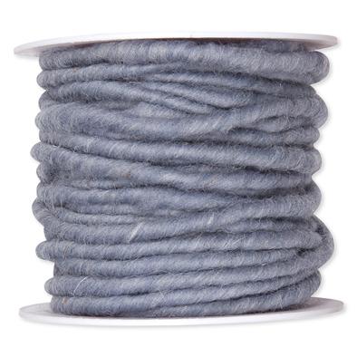 Wolkoord grijsblauw op rol 10 meter per rol