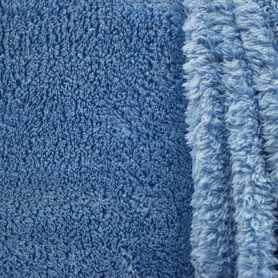 Teddystof licht blauw 160 cm breed per meter