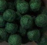 Vilt balletjes kerst groen 10 mm doorsnee 10 stuks per zakje