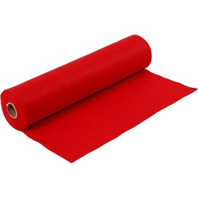 Budget vilt op rol rood 45 cm x 500 cm op rol per rol