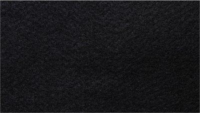 Vilt zwart 180 cm breed per meter