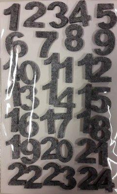 Vilten cijfers grijs gemeleerd per velletje