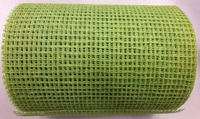 Jute band groen 17 cm breed per meter