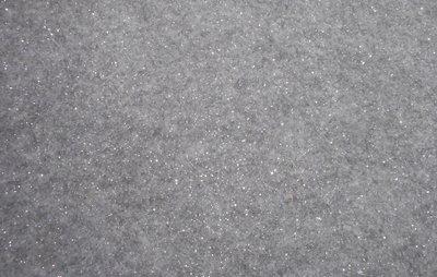 Vilt lapje grijs gemeleerd met glitters 20 x 30 cm 1,5 mm dik per lapje