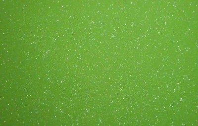 Vilt lapje fel groen met glitters 20 x 30 cm 1,5 mm dik per lapje