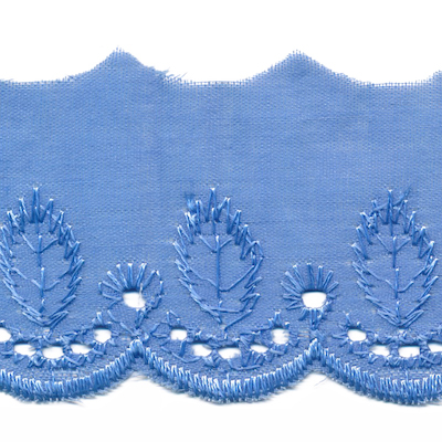 Broderie blauw 50 mm breed per meter