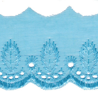 Broderie aqua 50 mm breed per meter