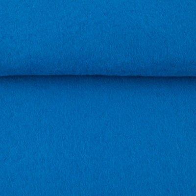 Vilt blauw 1,5 mm dik 90 cm breed per meter