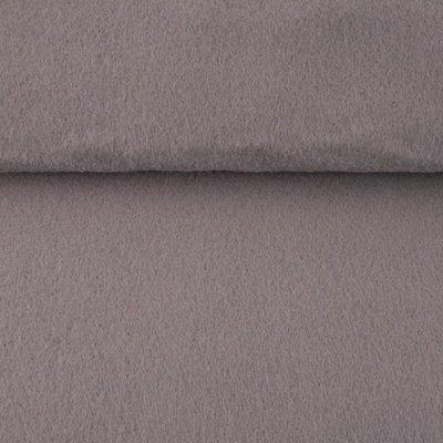 Vilt licht grijs 1,5 mm dik 90 cm breed per meter