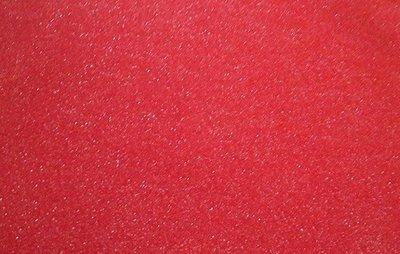 Vilt lapje rood met glitters 20 x 30 cm 1,5 mm dik per lapje