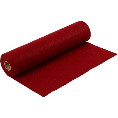 Budget vilt gemeleerd rood 45 cm x 500 cm op rol