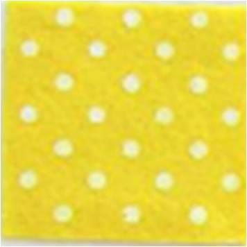 Vilt lapje geel met witte stippen 30 x 40 cm per lapje