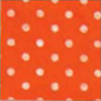 Vilt lapje oranje met witte stippen 30 x 40 cm per lapje
