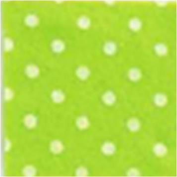 Vilt lapje fel groen met witte stippen 30 x 40 cm per lapje