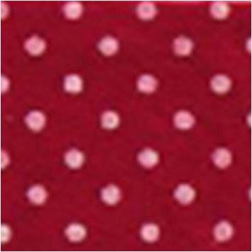 Vilt lapje donker rood met witte stippen 30 x 40 cm per lapje