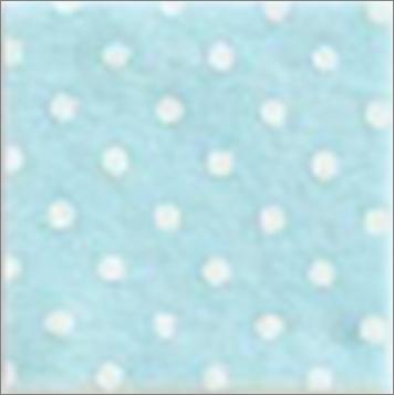 Vilt lapje baby blauw met witte stippen 30 x 40 cm per lapje