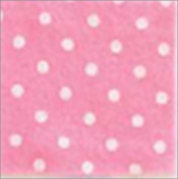 Vilt lapje roze met witte stippen 30 x 40 cm per lapje