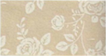 Vilt lapje rozen print bruin 30 x 40 cm per lapje