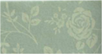 Vilt lapje rozen print groen 30 x 40 cm per lapje