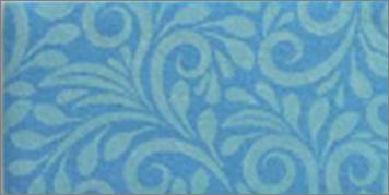 Vilt lapje sierlijk print aqua 30 x 40 cm per lapje