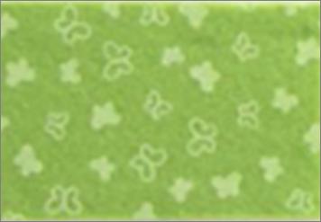 Vilt lapje fel groen met vlinder print 30 x 40 cm per lapje