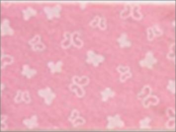 Vilt lapje roze met vlinder print 30 x 40 cm per lapje