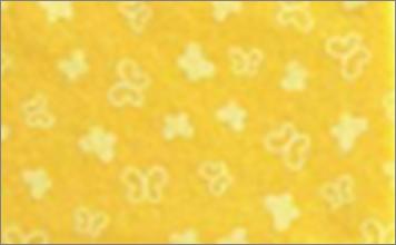 Vilt lapje met vlinder geel print 30 x 40 cm per lapje