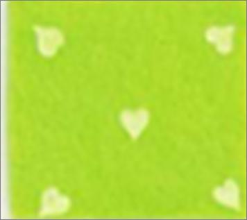 Vilt lapje fel groen met hartjes print wit 30 x 40 cm per lapje