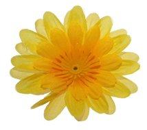 Stoffen kunst gerbera klein geel 6,5 cm