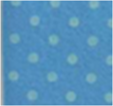 Vilt lapje midden blauw met donkere stippen 30 x 40 cm per lapje