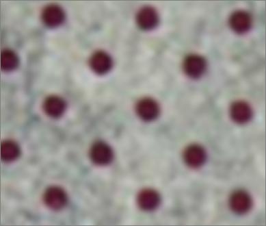 Vilt lapje licht grijs gemeleerd met rode stippen 30 x 40 cm per lapje