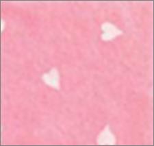 Vilt lapje licht roze met hartjes print wit 30 x 40 cm per lapje
