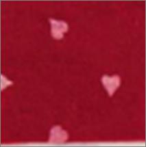 Vilt lapje donker rood met hartjes print wit 30 x 40 cm per lapje