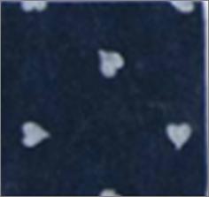 Vilt lapje donker blauw met hartjes print wit 30 x 40 cm per lapje