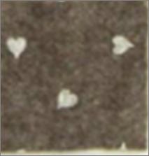 Vilt lapje bruin met hartjes print wit 30 x 40 cm per lapje