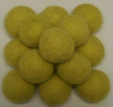 Vilt balletjes appel groen 20 mm doorsnee 10 stuks per zakje