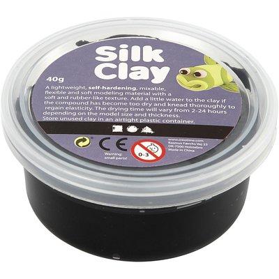 Silk clay zwart 40 gram per potje