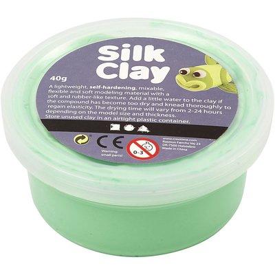 Silk clay groen 40 gram per potje