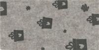 Vilt lapje licht beige met kadootjes print 30 x 40 cm per lapje