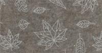 Vilt lapje donker beige met blaadjes print 30 x 40 cm per lapje