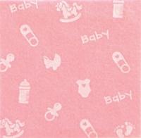 Vilt lapje baby roze met baby print 30 x 40 cm 1 mm dik per lapje