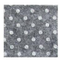 Vilt 3 mm dik grijs met witte stippen 50 x 70 cm per lap