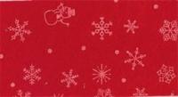 Vilt lapje met kerst print rood sneeuwpop ster 30 x 40 cm per lapje