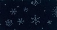 Vilt lapje met kerst print donkerblauw sneeuwpop ster 30 x 40 cm per lapje