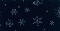 Vilt 90 cm breed kerst print blauw wit per meter
