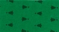 Vilt lapje met kerst print groen met kerstbomen 30 x 40 cm per lapje