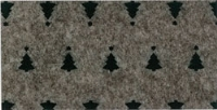 Vilt lapje met kerst print bruin gemeleerd met kerstbomen 30 x 40 cm per lapje