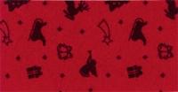 Vilt lapje met kerst print rood rendier slee 30 x 40 cm per lapje